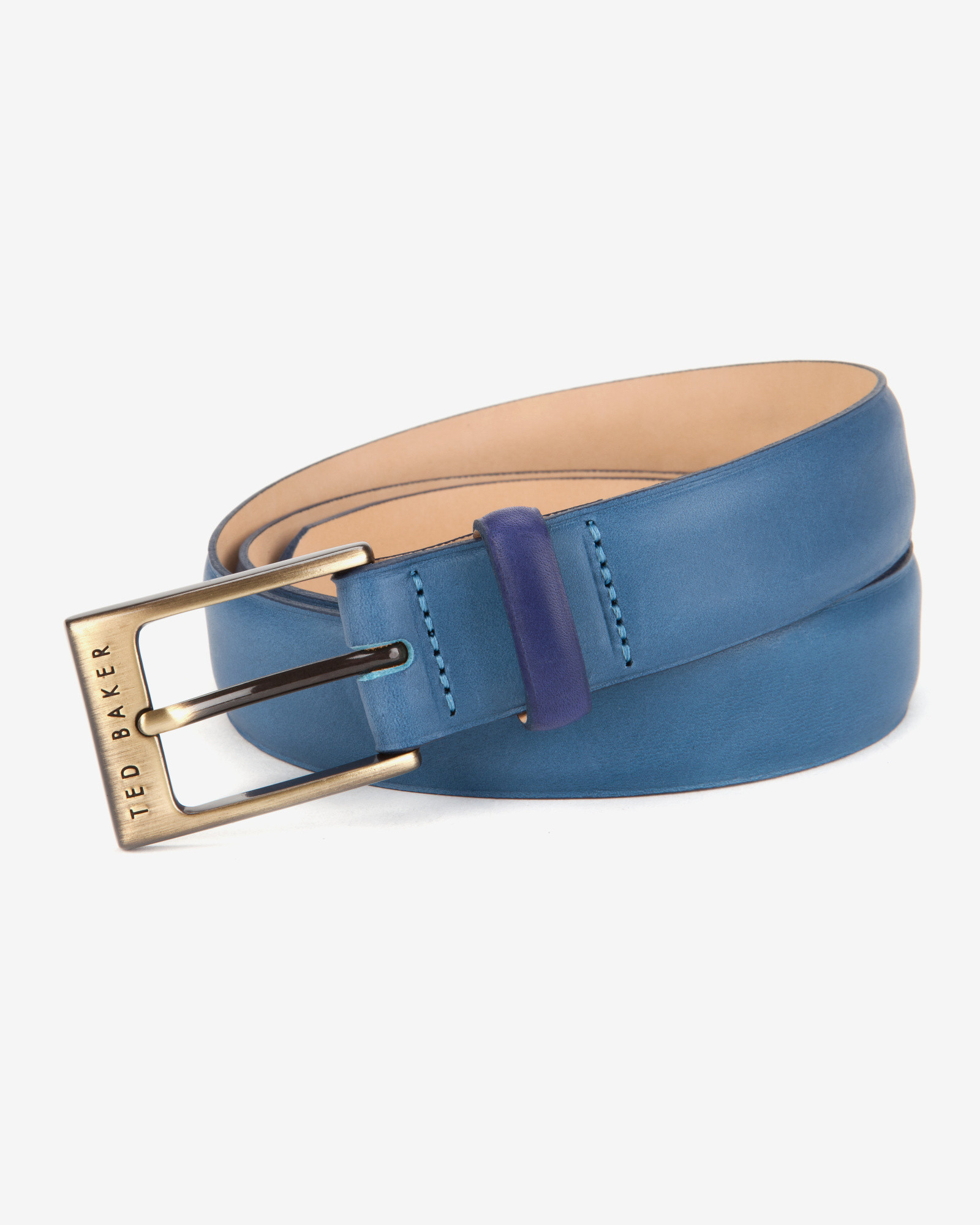 fca41f9f0e95 Ted Baker Bright Leather Belt in Blue for Men - Lyst