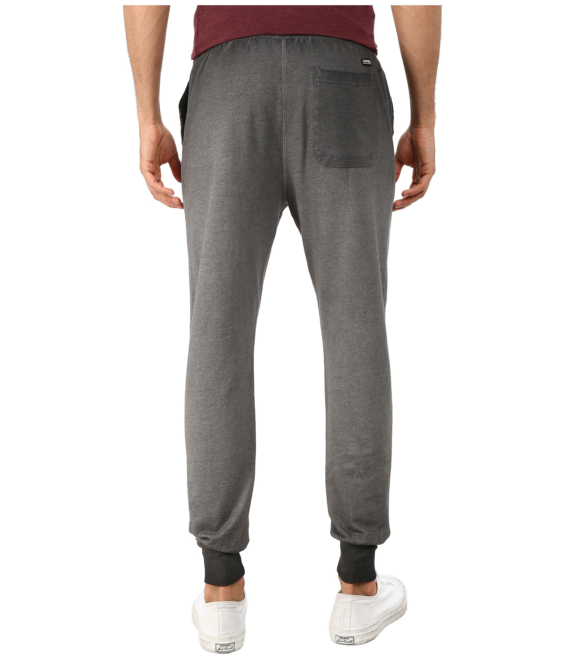 05b4056930f1 Lyst - Converse Black Wash French Terry Pants in Gray for Men