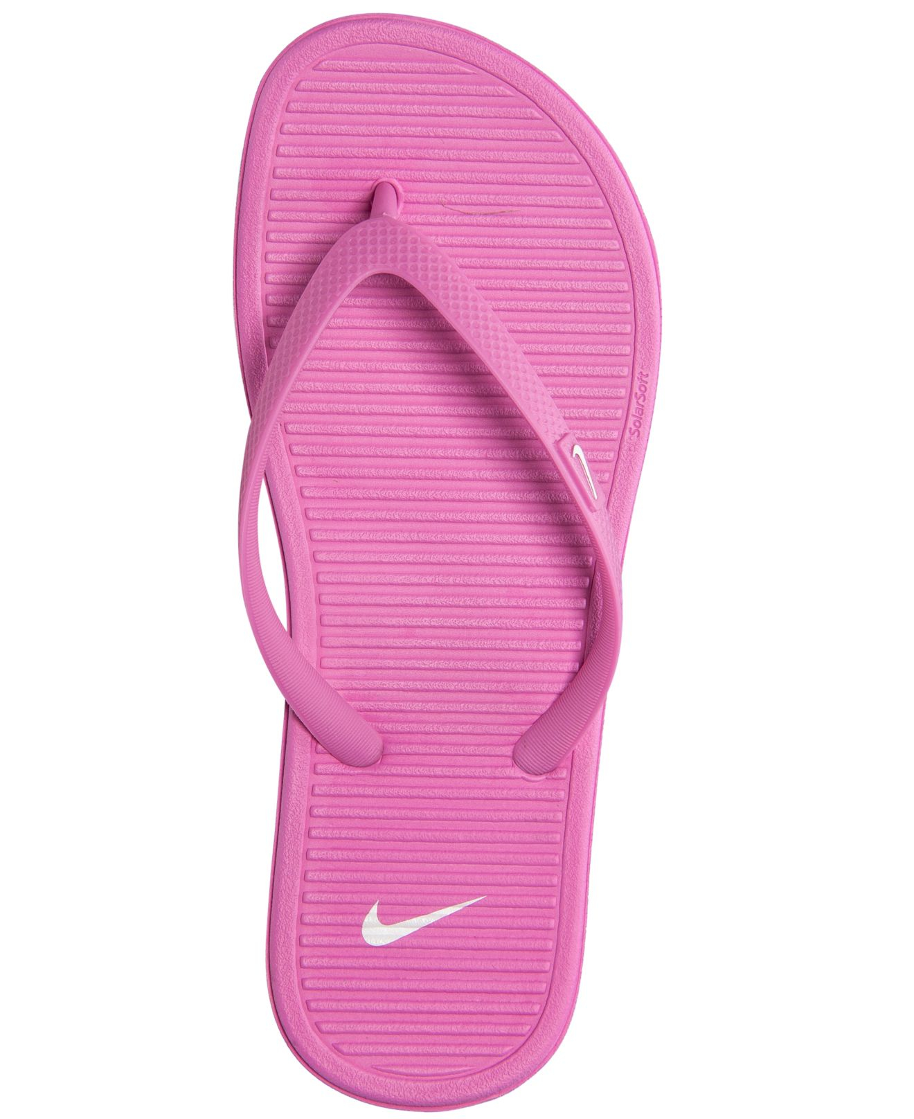 ba57552b2054 Lyst - Nike Women s Solarsoft Ii Thong Sandals From Finish Line in Pink