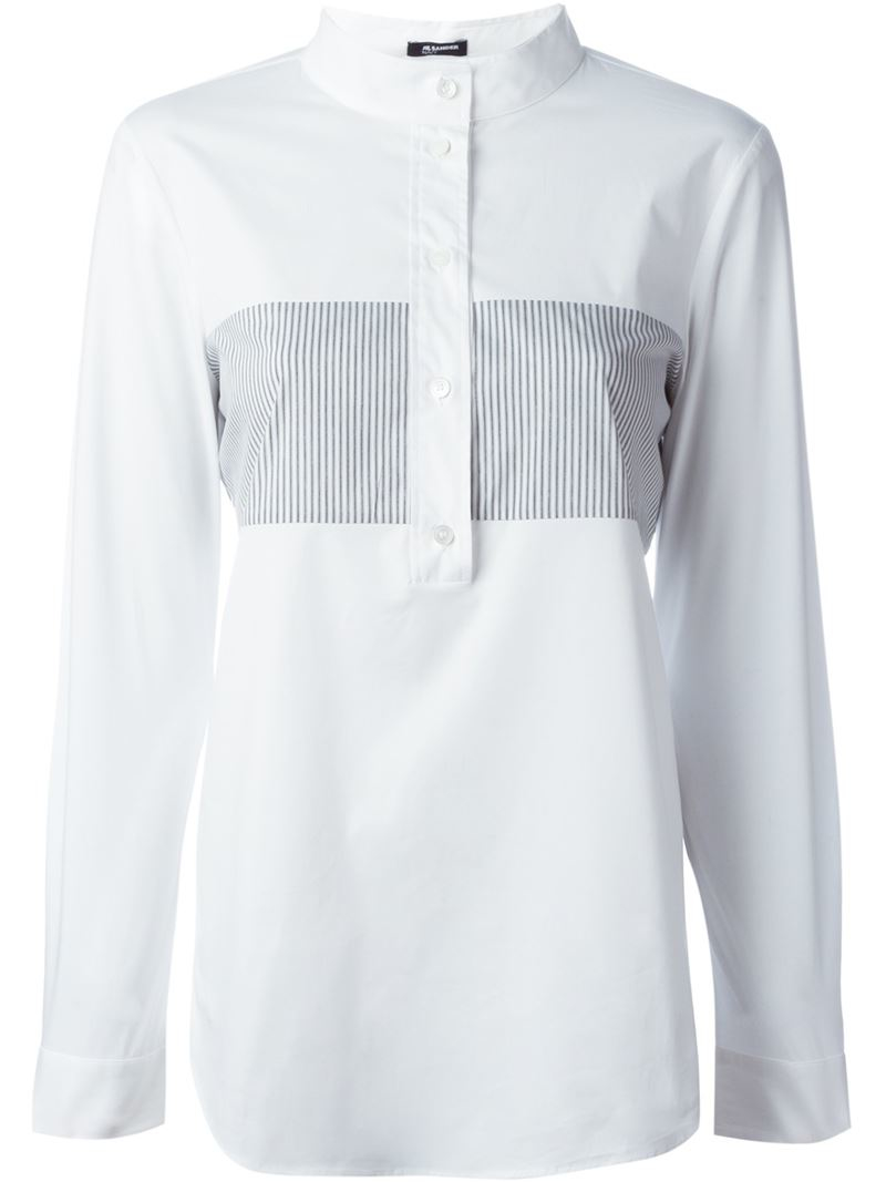 Jil Sander mandarin collar shirt How Much T3zIOid