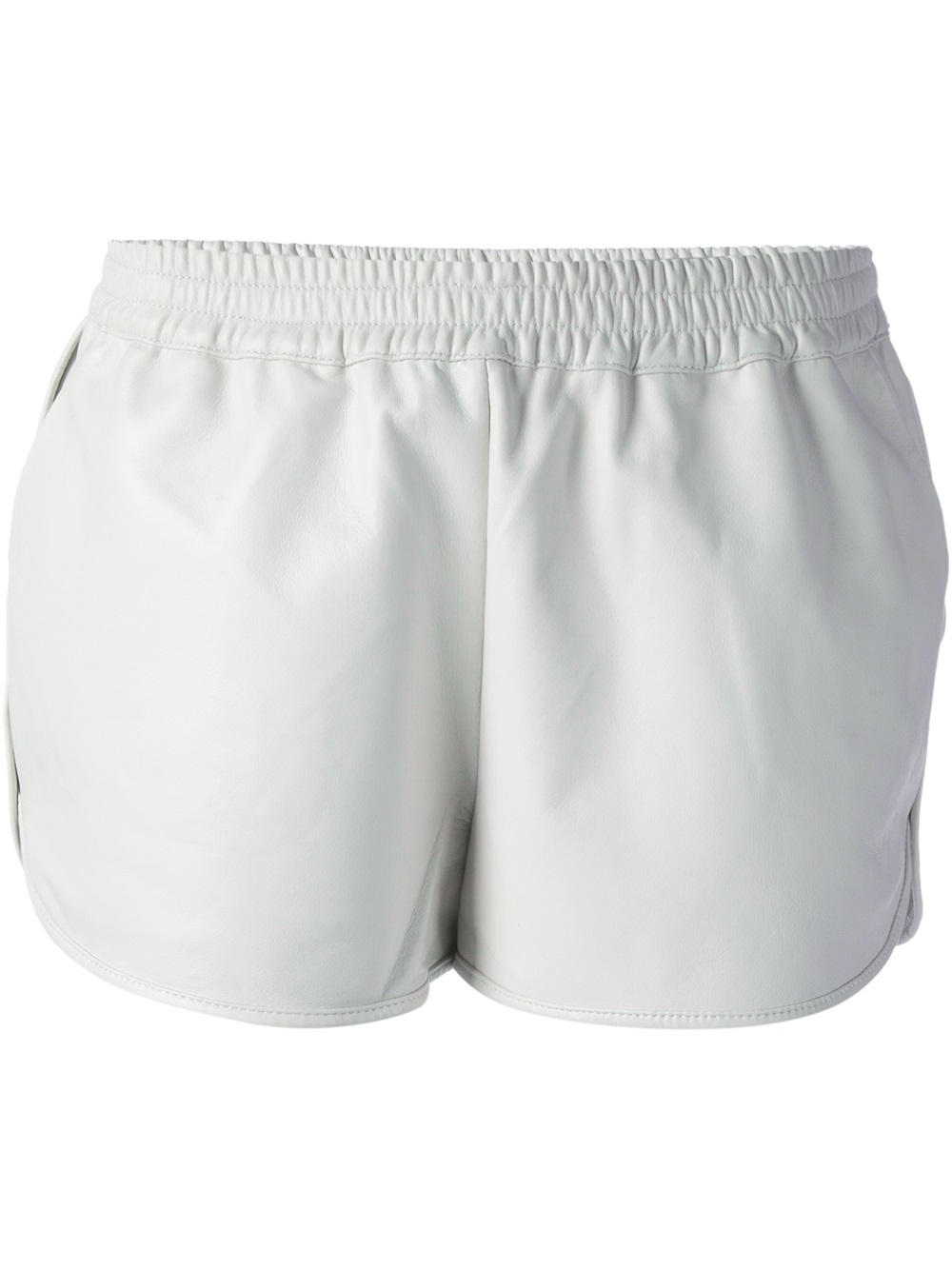White Leather Shorts