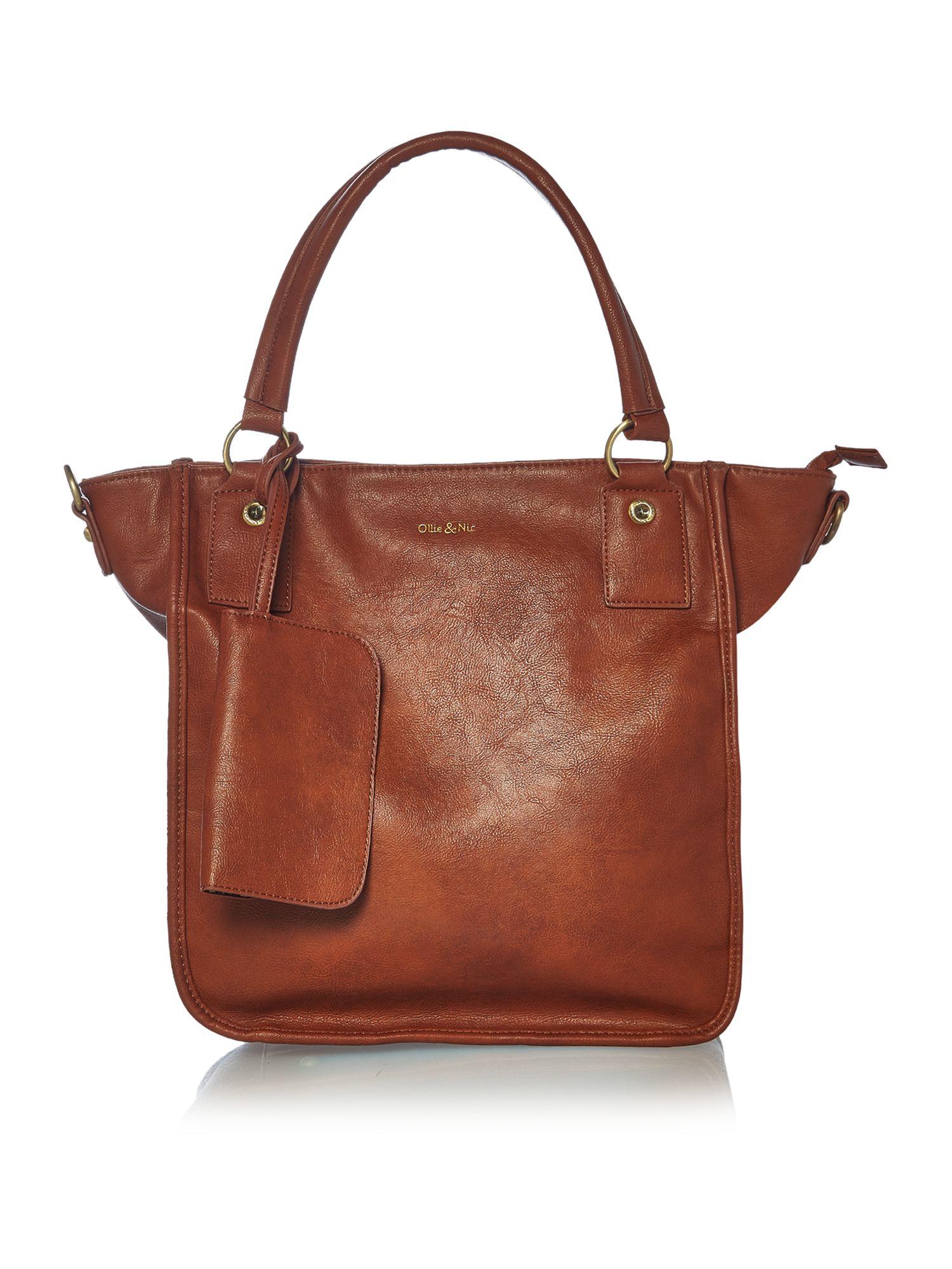 Lyst Ollie Amp Nic Tan Tote Crossbody Bag In Brown