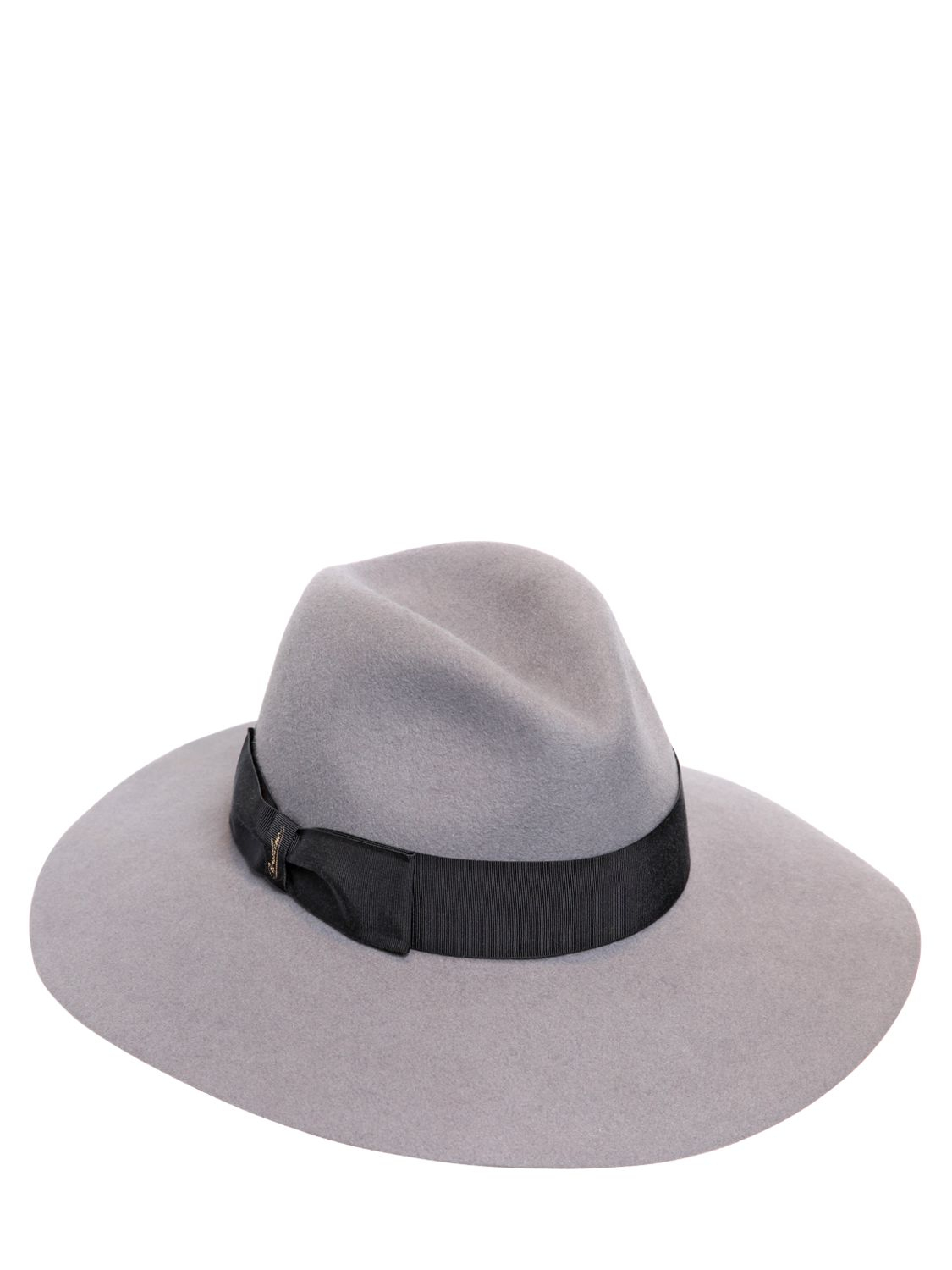 be446f50f82 Lyst - Borsalino Lapin Fur Felt Wide Brim Hat in Gray