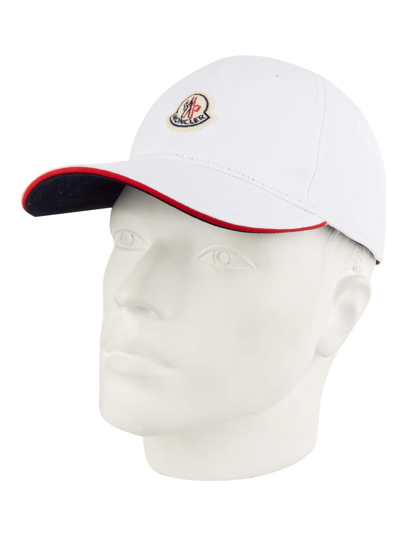 Lyst - Moncler Logo Cap in White for Men 08f6925933f