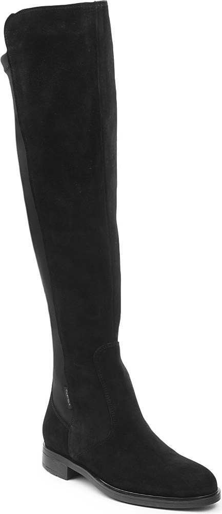 carvela kurt geiger walnut knee high boots in black lyst