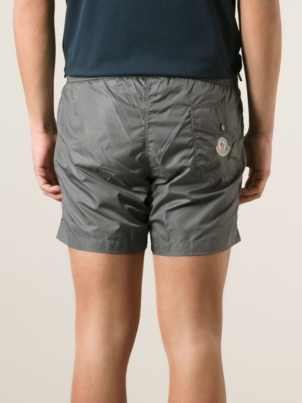 moncler grey swim shorts