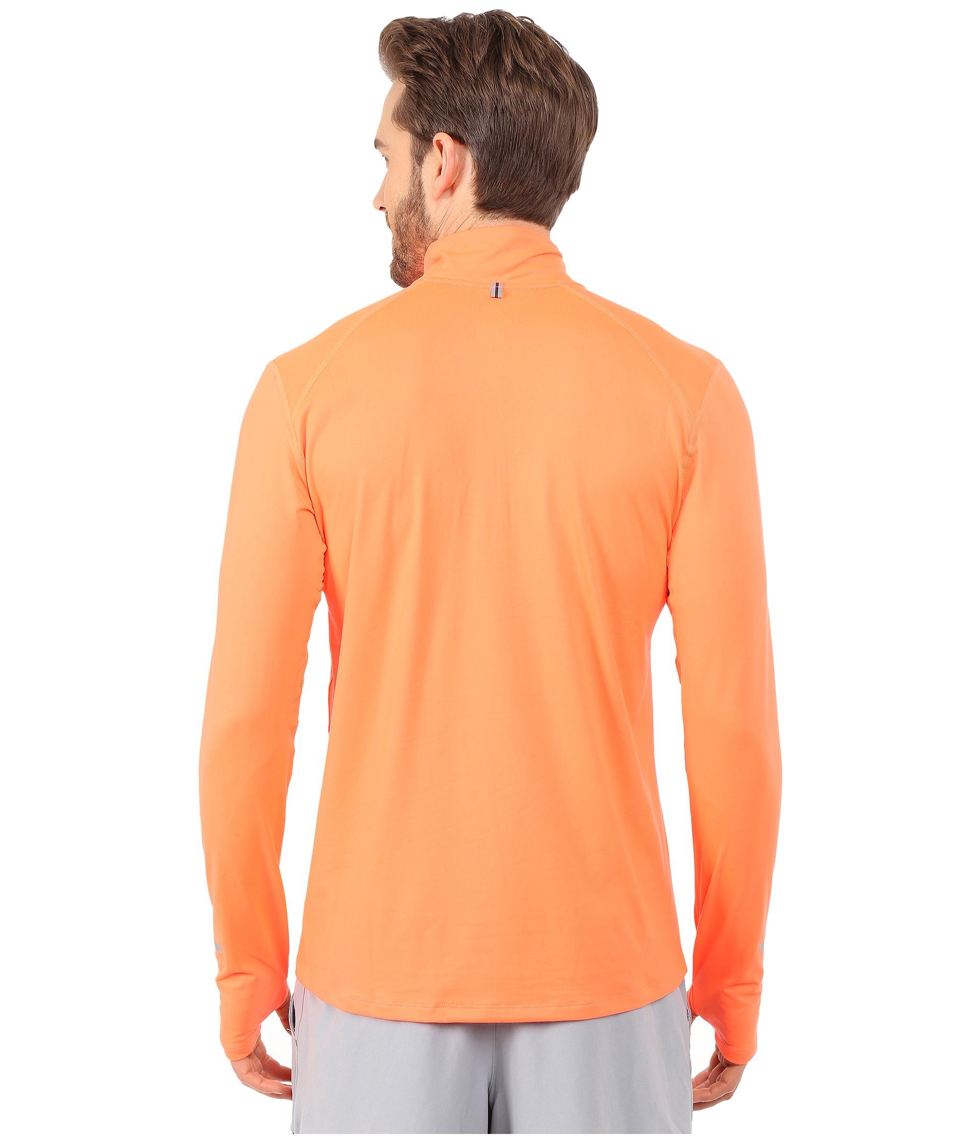 49055d696 Nike Dri-fit™ Element Half-zip Pullover in Orange for Men - Lyst