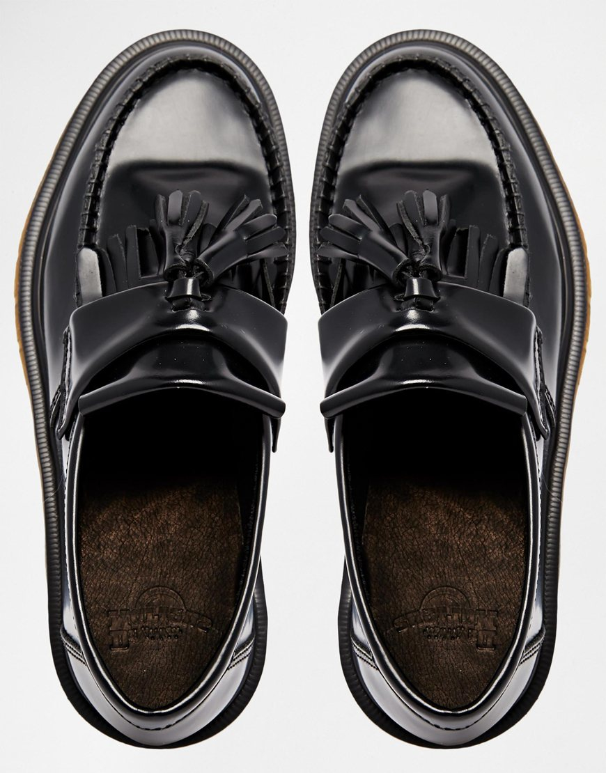 Martens Lyst Loafer Flat Black Dr Shoes Leather in Adrian Tassel S55xHw1q