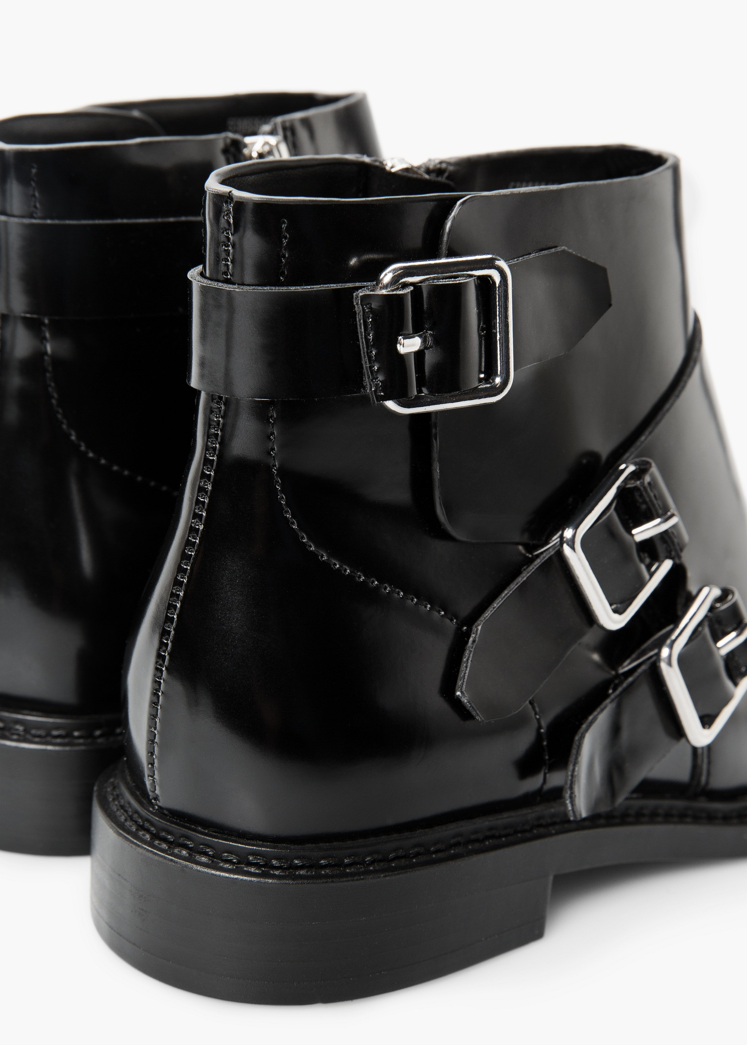 Lyst Mango Buckle Boots In Black