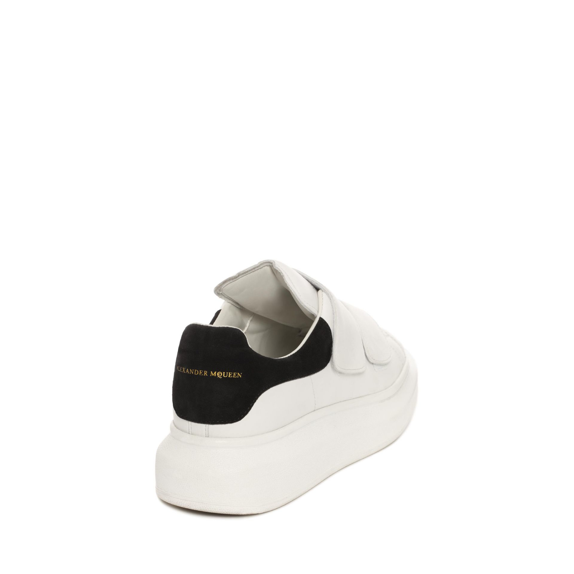 White and Black Straps Oversized Sneakers Alexander McQueen Many Kinds Of Cheap Price ogFH8W96