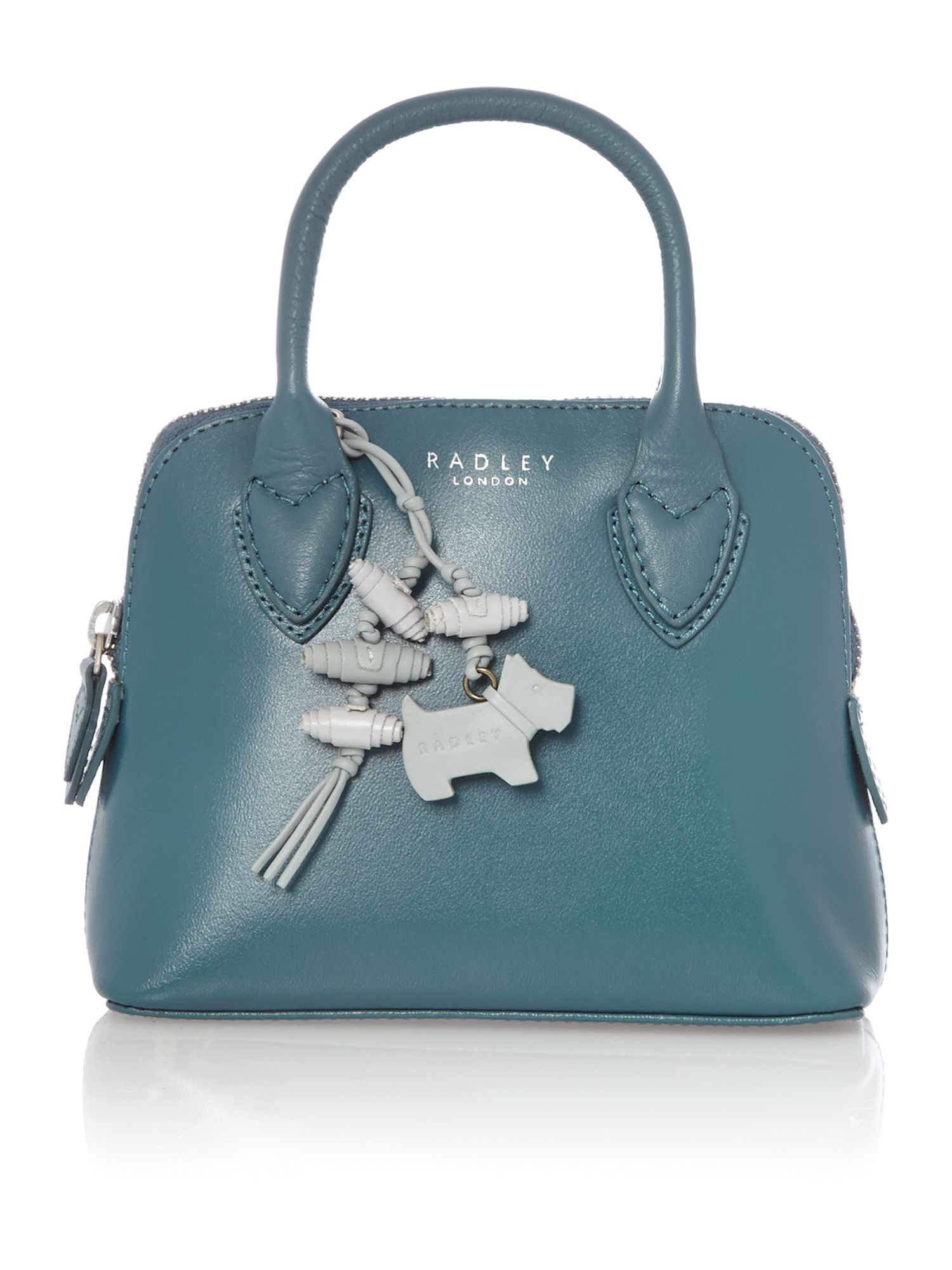 Radley Aldgate Plain Blue Leather Multiway Mini Bag in Blue