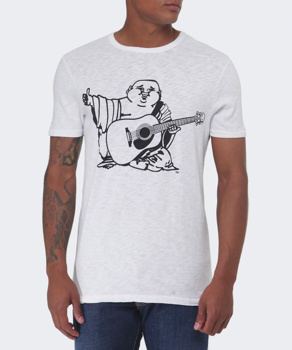 True religion Buddha Print Cotton T-shirt in White for Men ... True Religion Shirts White