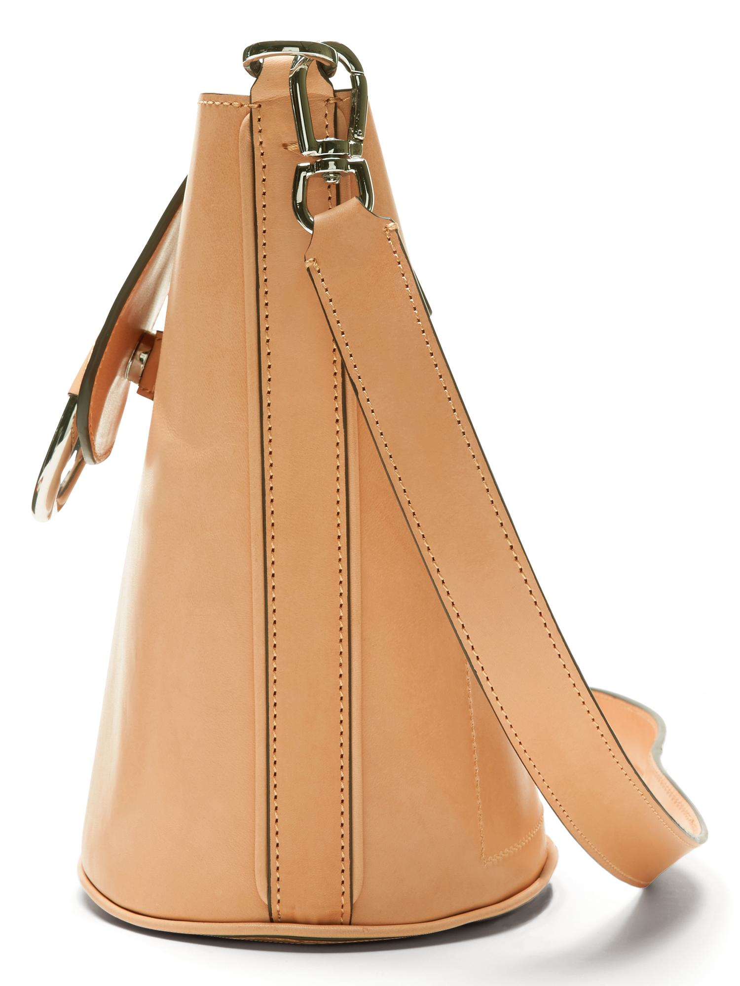 43e3e35ef7159 Lyst - Banana Republic Italian Vachetta Bucket Bag in Natural