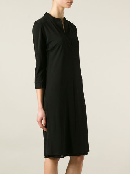 Black Loose Fitting Dresses Loose Fit Shirt Dress in