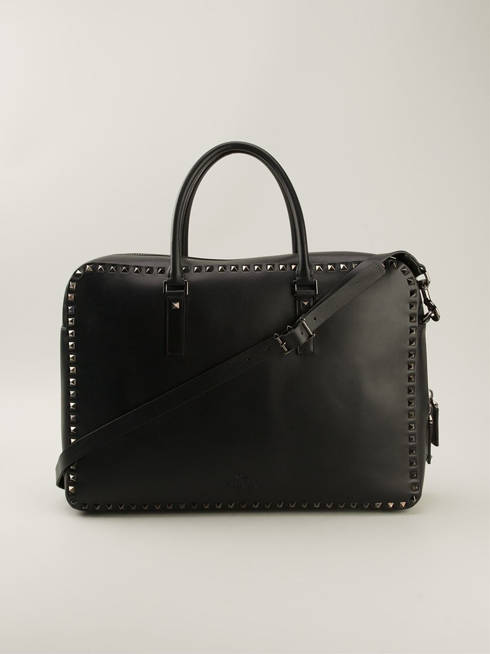 834df9f0dfc Valentino 'Rockstud' Laptop Bag in Black for Men - Lyst