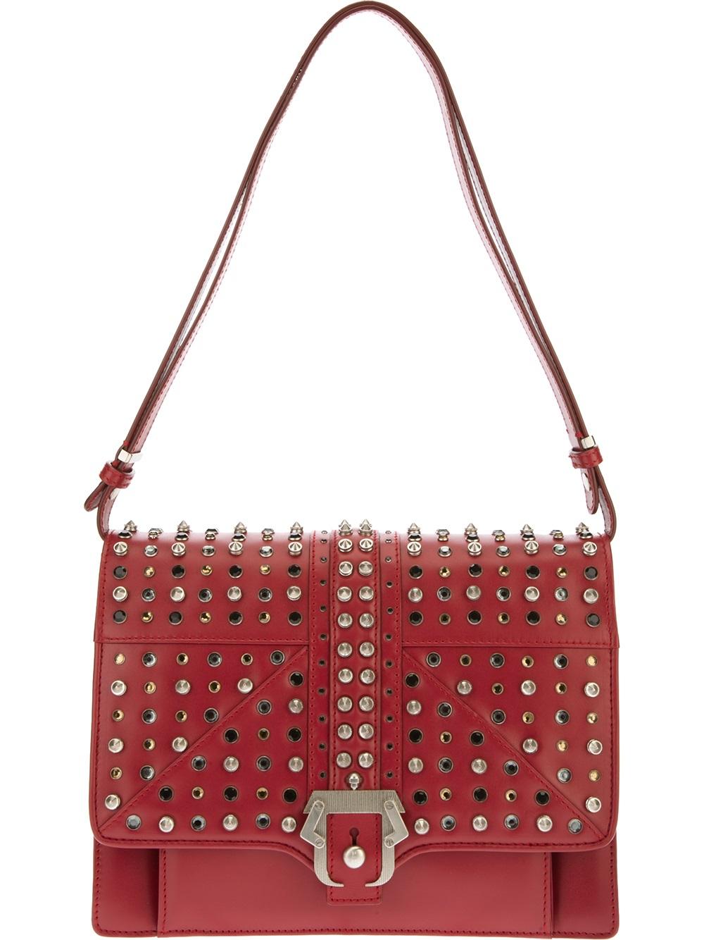 Paula cademartori Caroline Studded Handbag in Red | Lyst