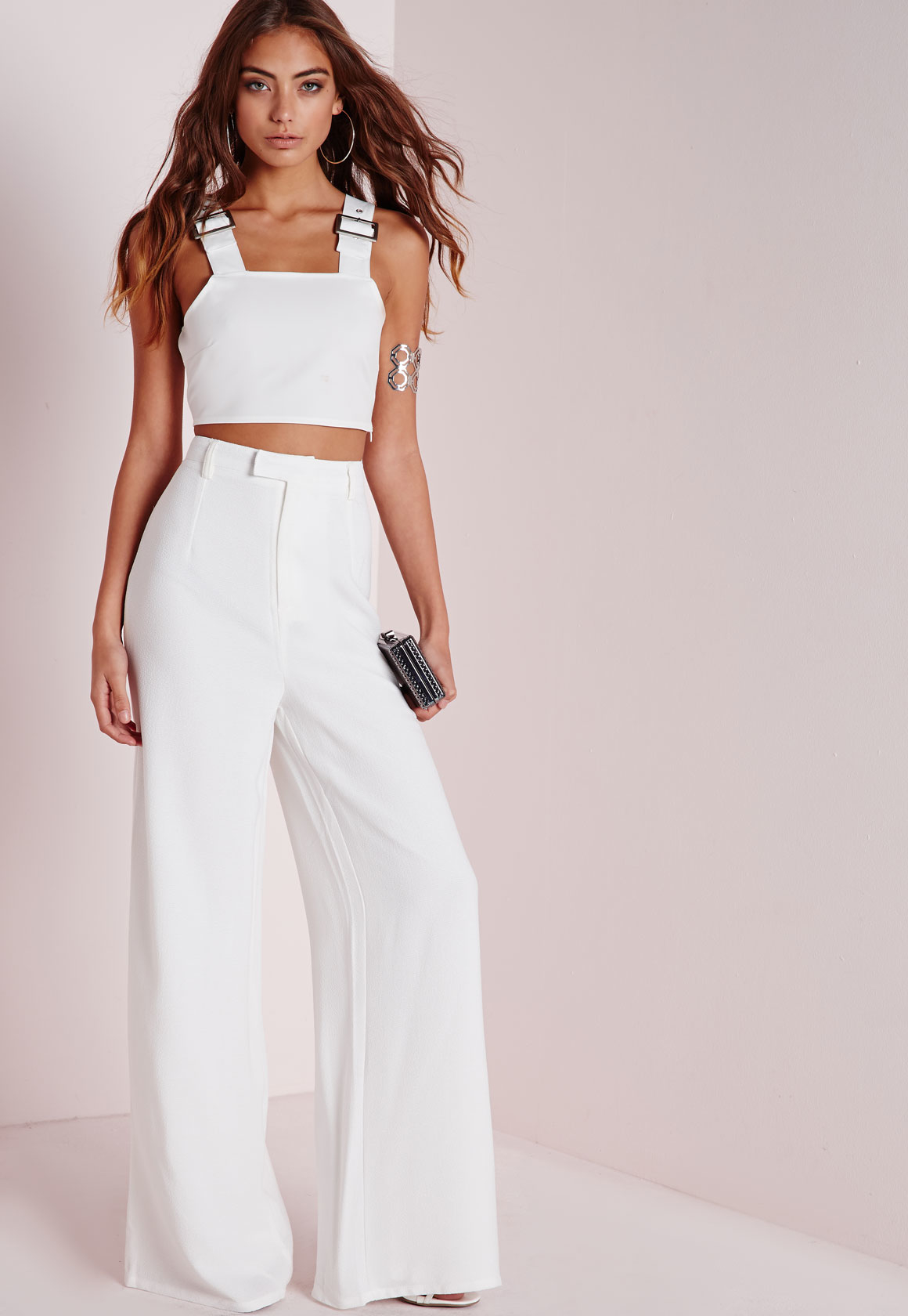 Shop white cotton wide leg pants at Neiman Marcus, where you will find free shipping on the latest in fashion from top designers.