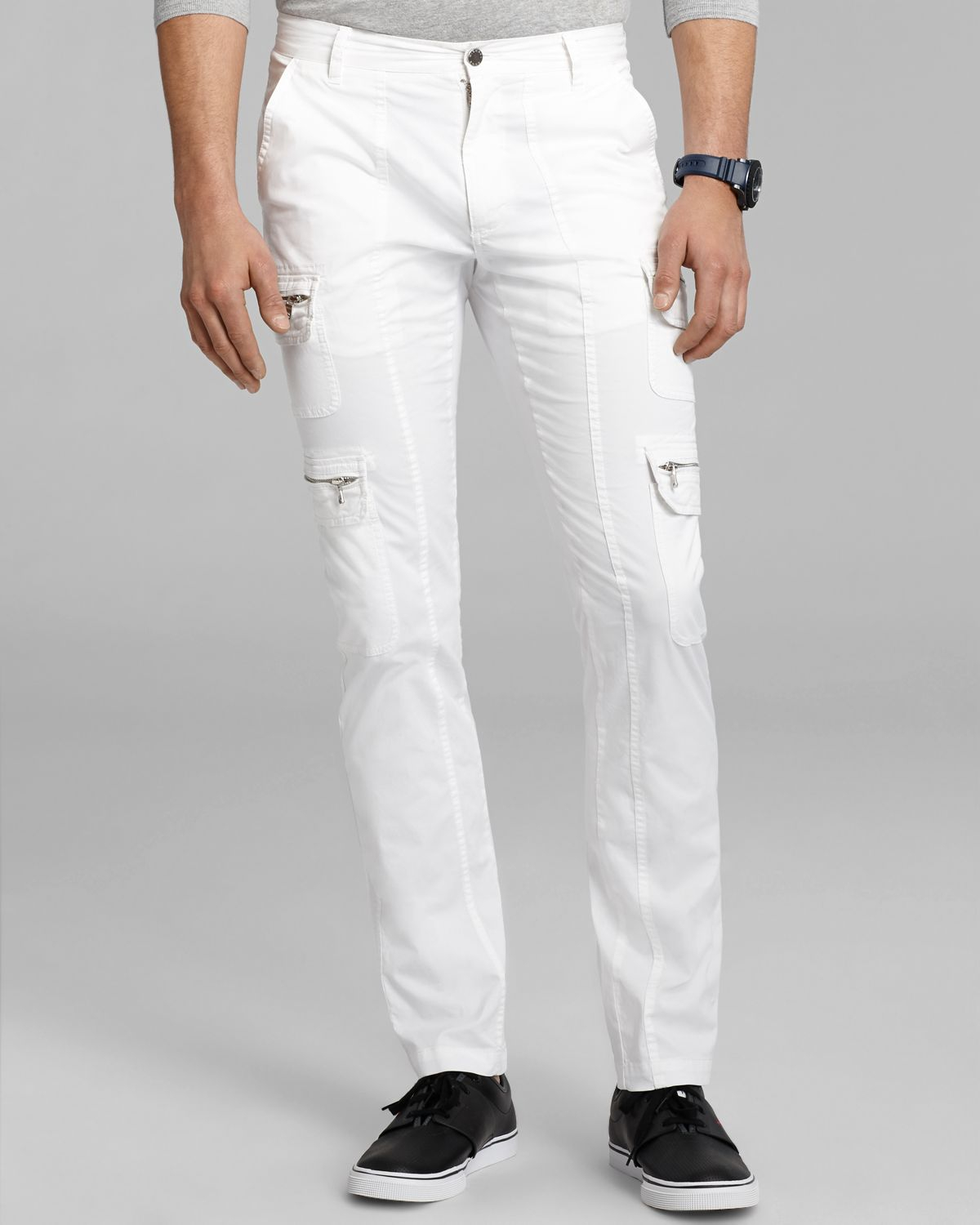 Michael kors Twill Cargo Pants in White for Men | Lyst