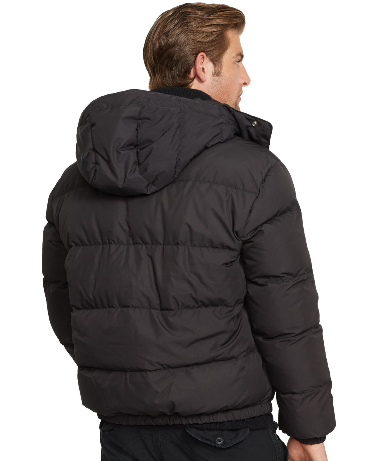 polo ralph lauren elmwood down jacket in black for men lyst. Black Bedroom Furniture Sets. Home Design Ideas