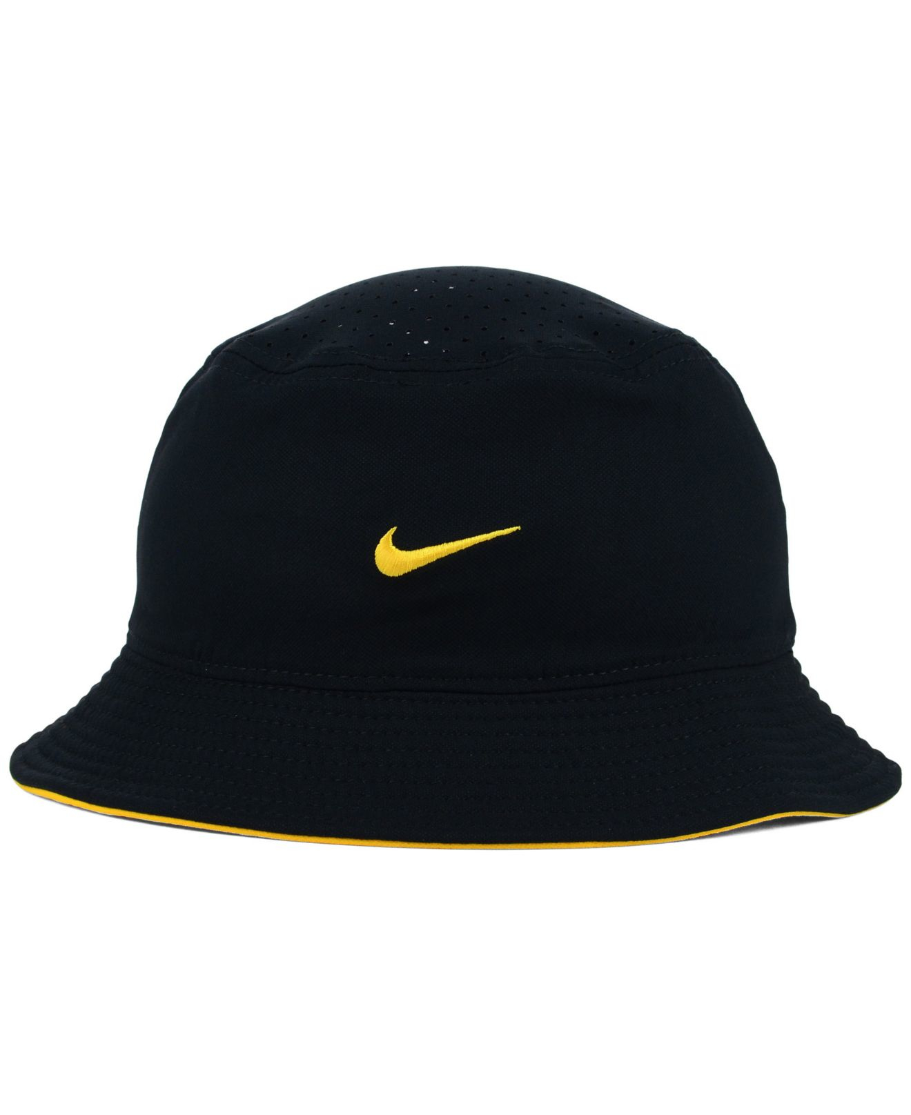 newest 73a19 9e4a5 ... where to buy lyst nike pittsburgh pirates vapor dri fit bucket hat in  black for men