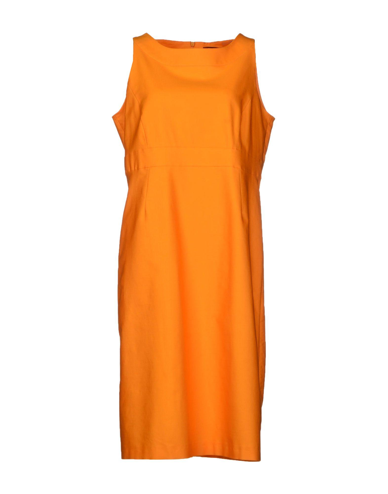 max mara studio knee length dress in orange lyst. Black Bedroom Furniture Sets. Home Design Ideas
