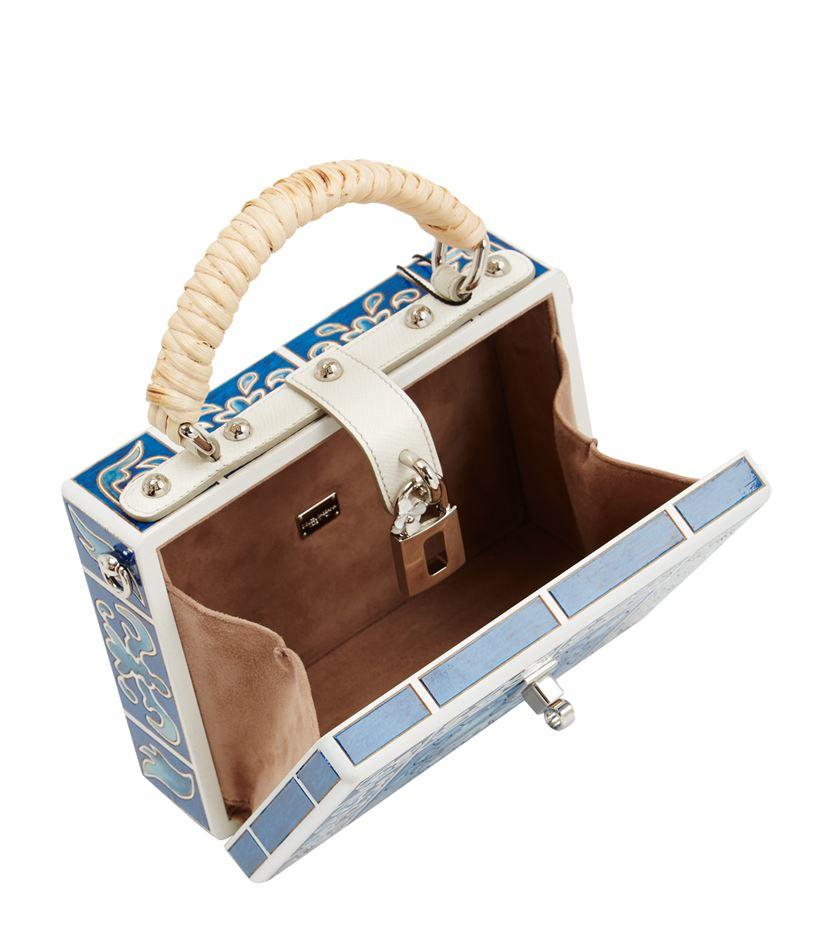 Dolce   Gabbana Engraved Wood Box Bag in Blue - Lyst 5ec36d3af60df