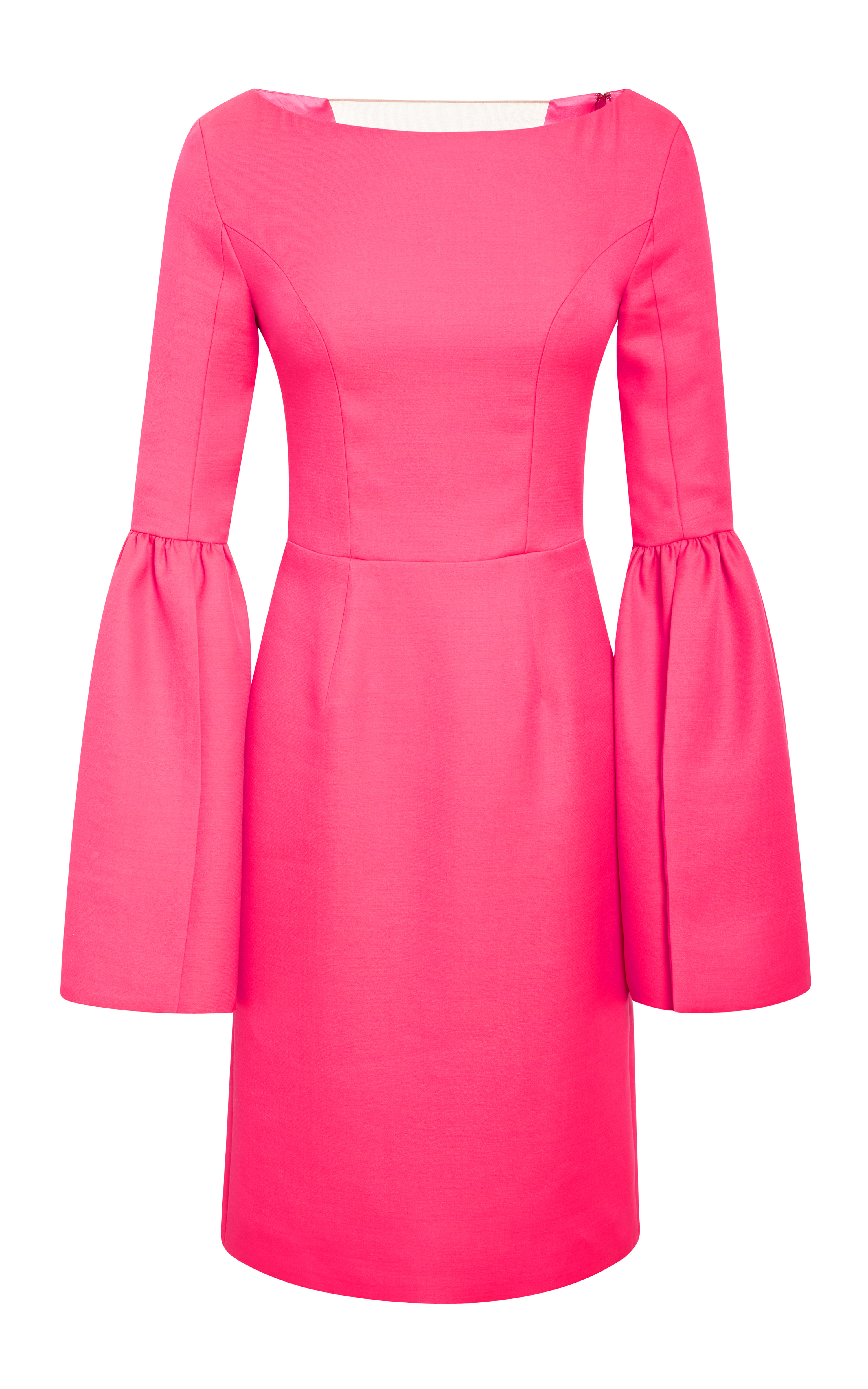 Honor Bell Sleeve Fitted Dress In Pink Neon Pink Lyst