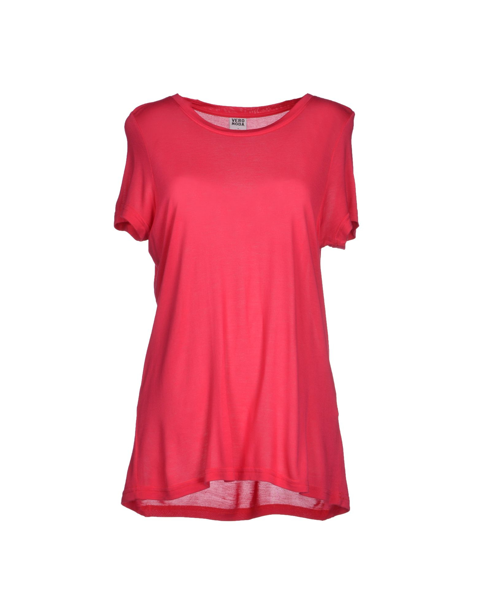 vero moda t shirt in red fuchsia save 36 lyst. Black Bedroom Furniture Sets. Home Design Ideas