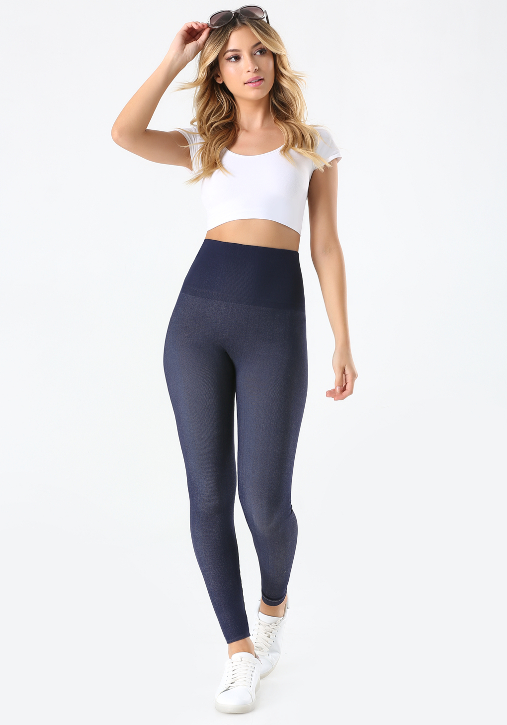 Blue Sports Leggings