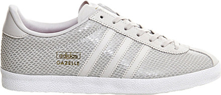 official photos d8152 3812d adidas Gazelle Og Leather Trainers, Womens, Size 6, Pearl Gr