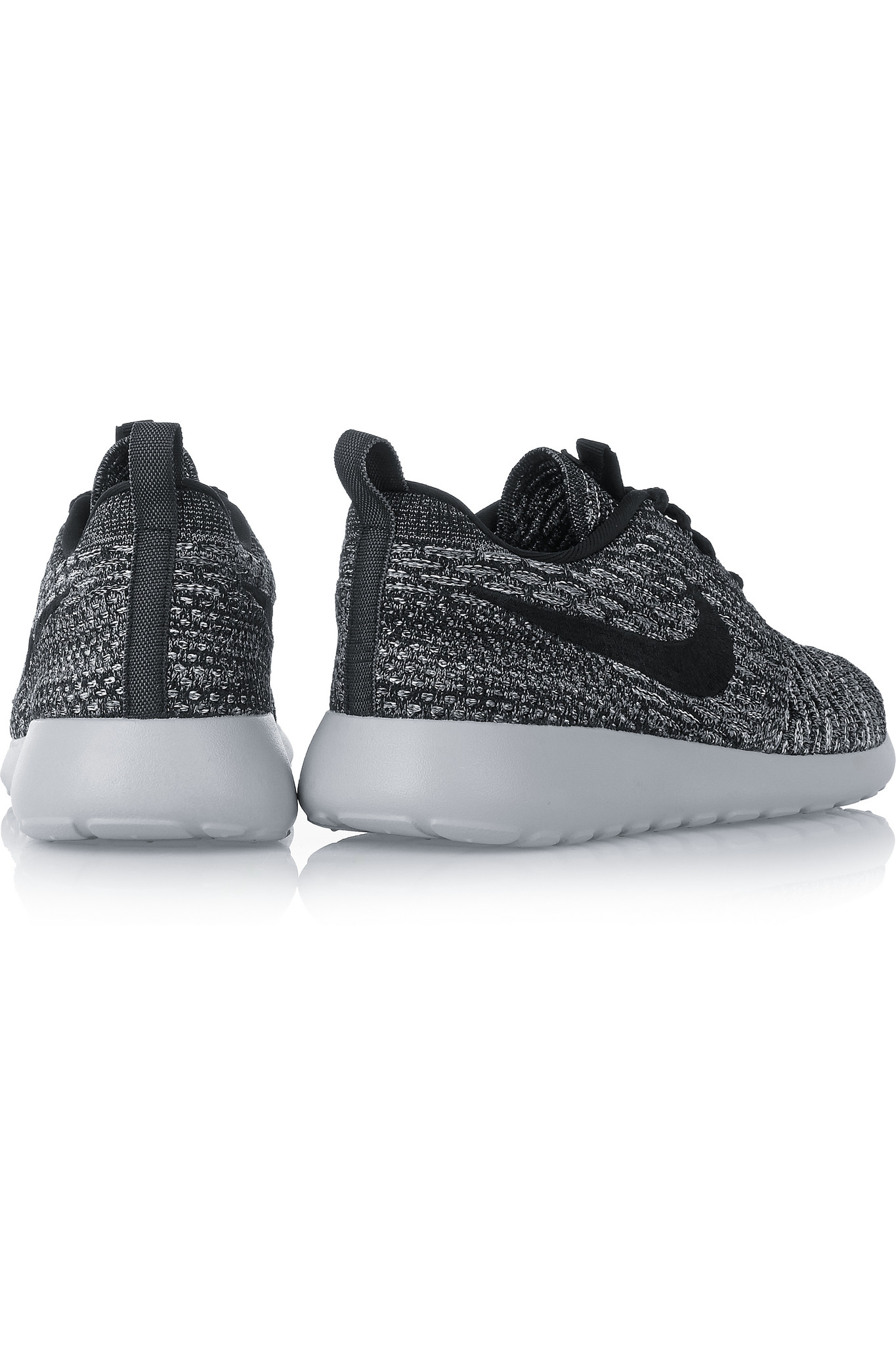 81cb6e7097d0 Nike Roshe One Flyknit Mesh Sneakers in Gray - Lyst