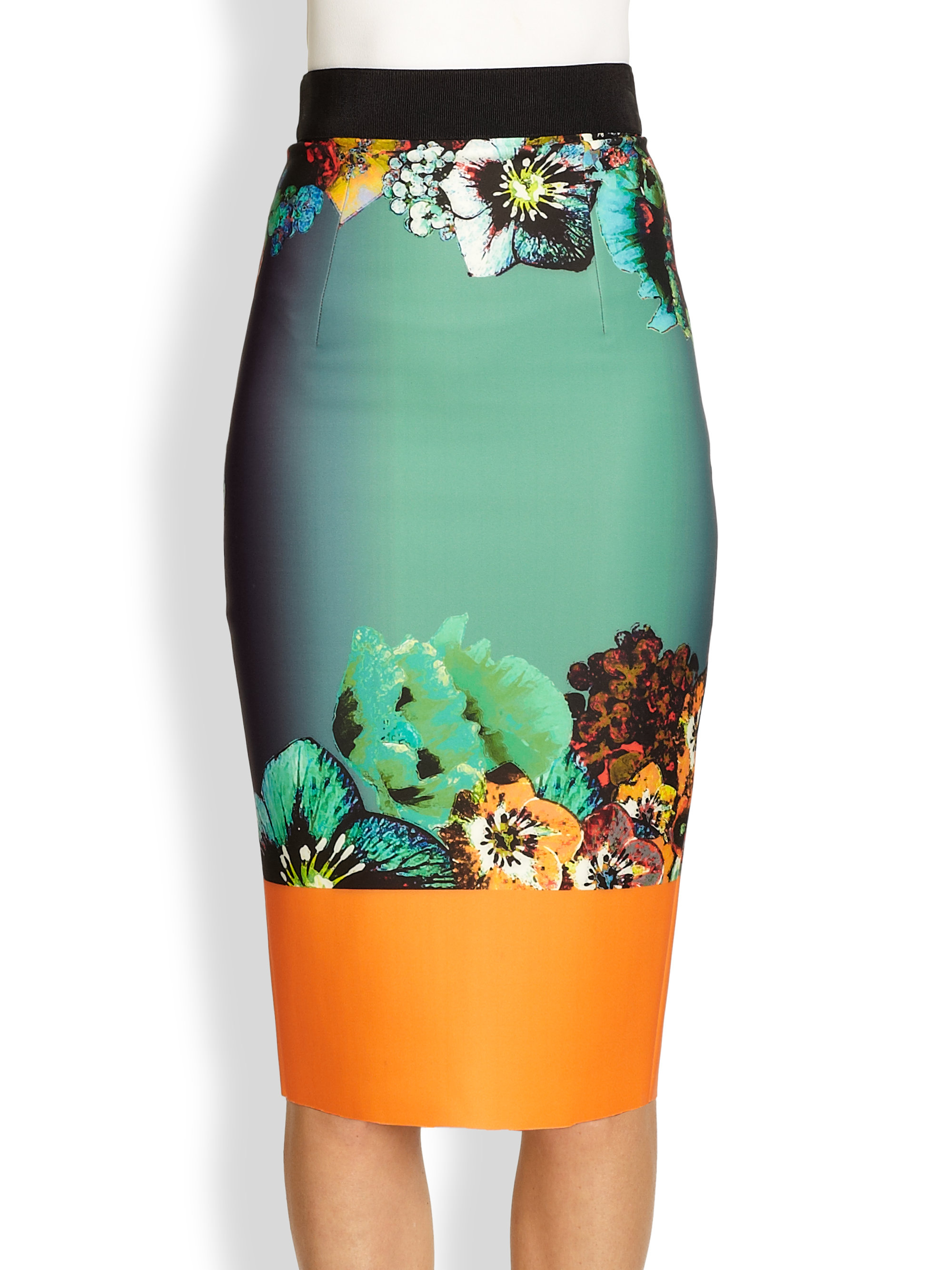 Milly Sea Blossom Pencil Skirt | Lyst
