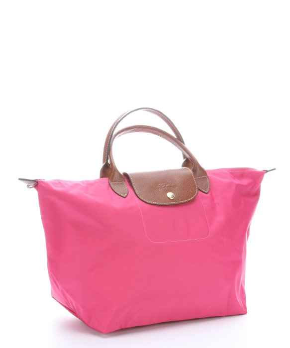 Longchamp bonbon nylon le pliage medium top handle tote bag in pink lyst - Pliage serviette bonbon ...