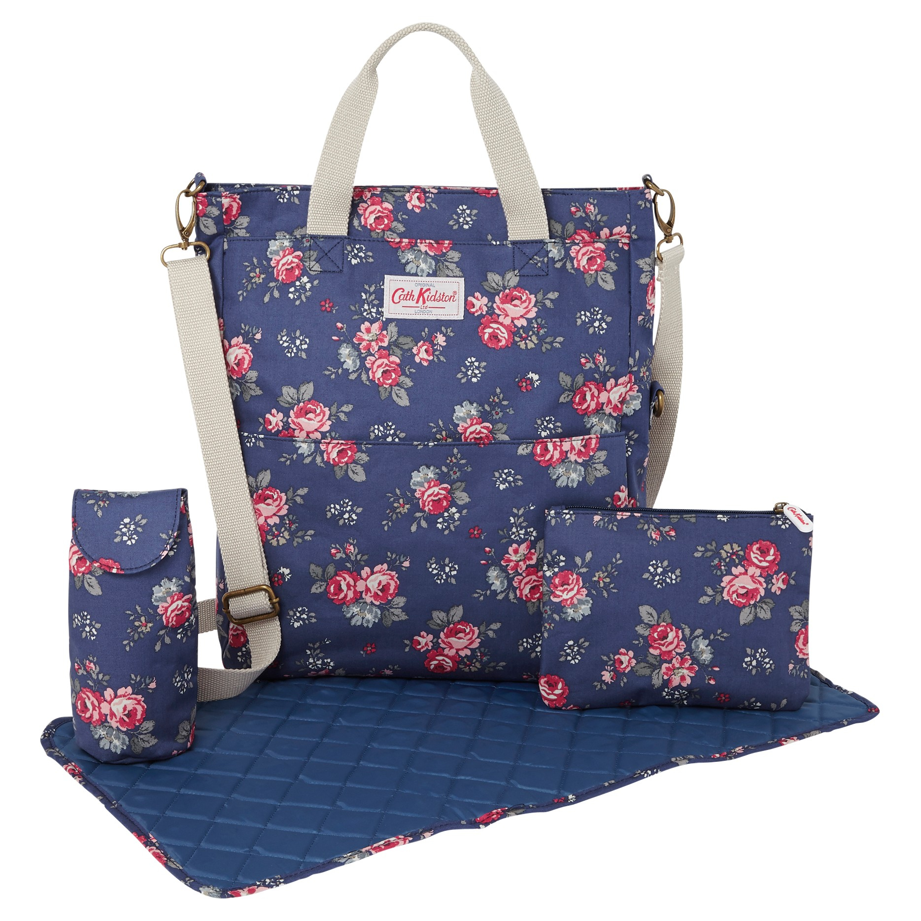 92dc39f9fc9b Cath Kidston Rose Foldover Changing Bag Accessories in .