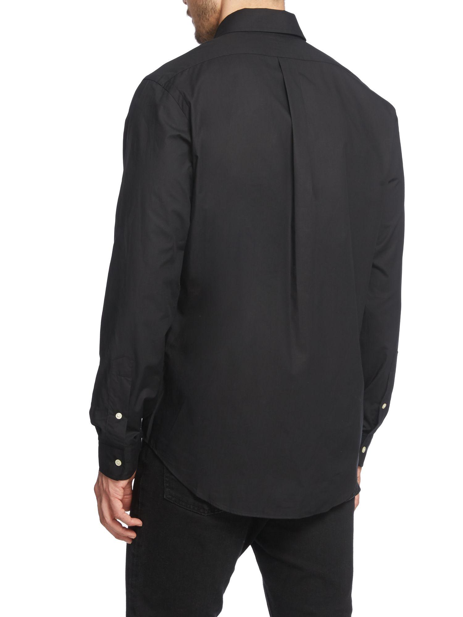 Lyst - Polo ralph lauren Plain Long Sleeve Button Down Shirt in ...