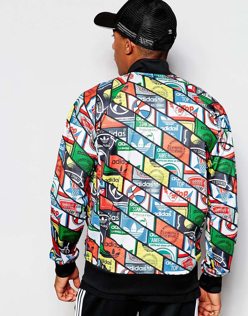 the latest b989c 38187 Lyst - adidas Originals Track Jacket In All Over Print Ab7683 in ...