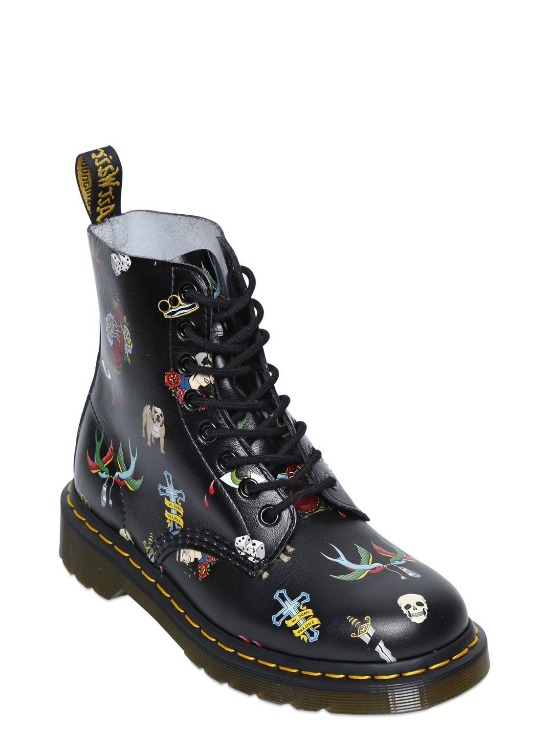 Womens Boots Many Colors 44129858 Dr Martens 30mm Tattoo Leather