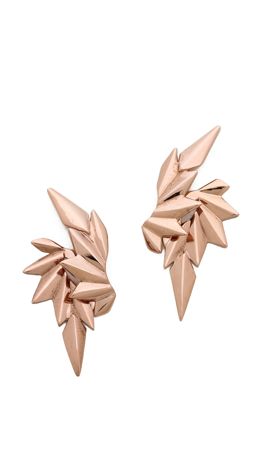 Lyst Maria Black Wing Earring Set Rose Gold in Pink