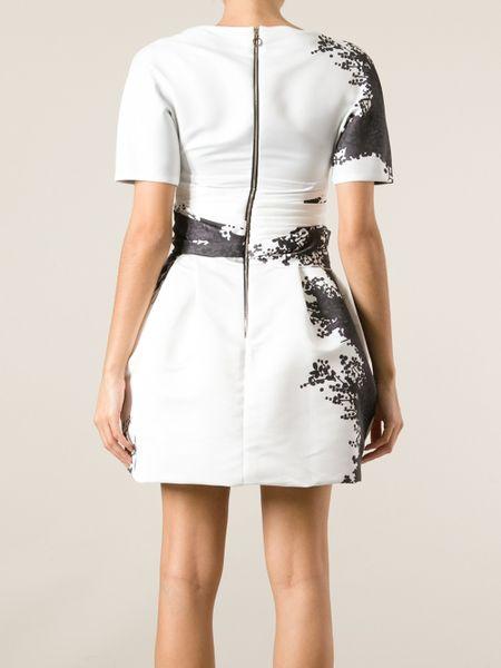 obi belt dress in white lyst