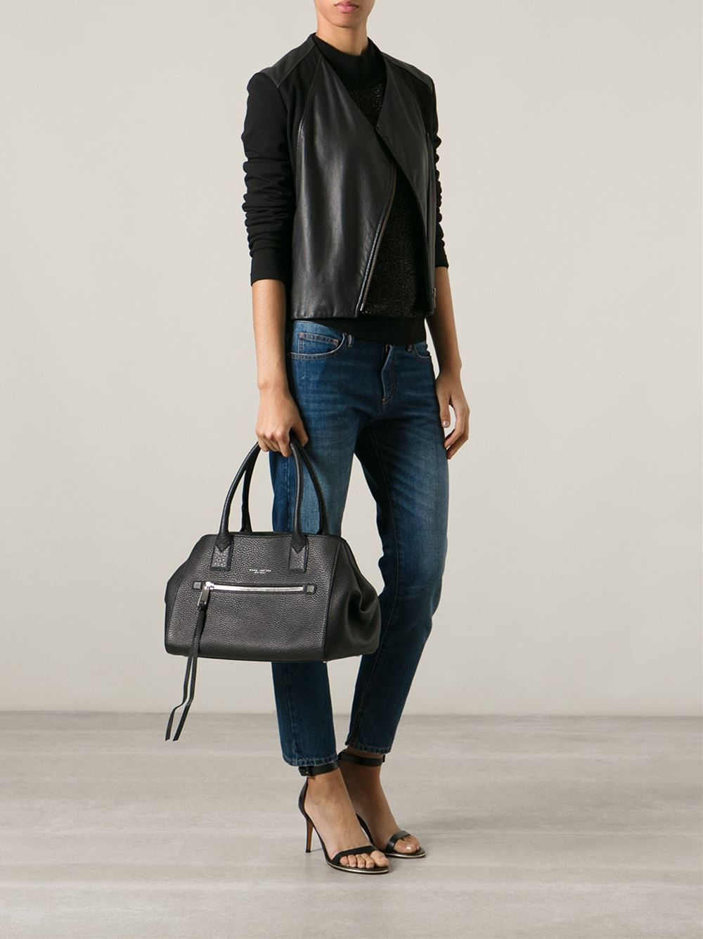 2d2566dbc0d3 Lyst - Marc Jacobs The Not So Big Apple Tote in Black