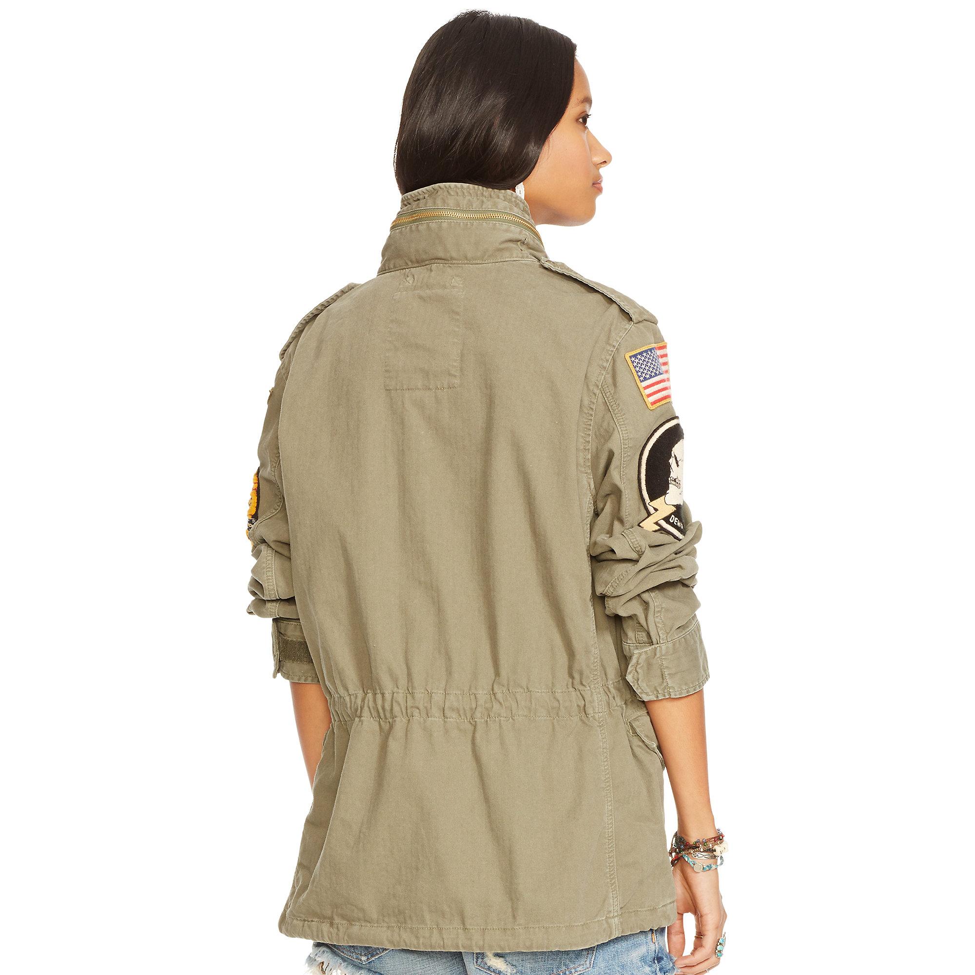 Denim Amp Supply Ralph Lauren Military Patches Field Jacket