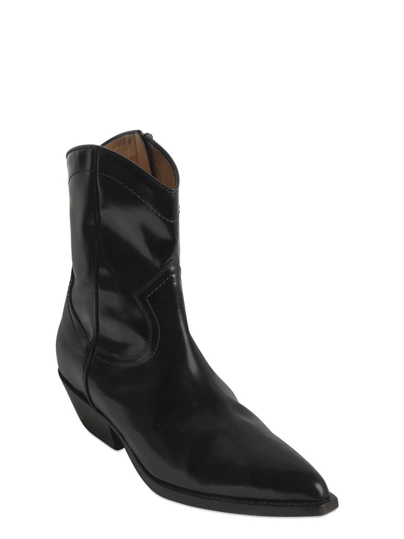 Serafini Leather Western Boots