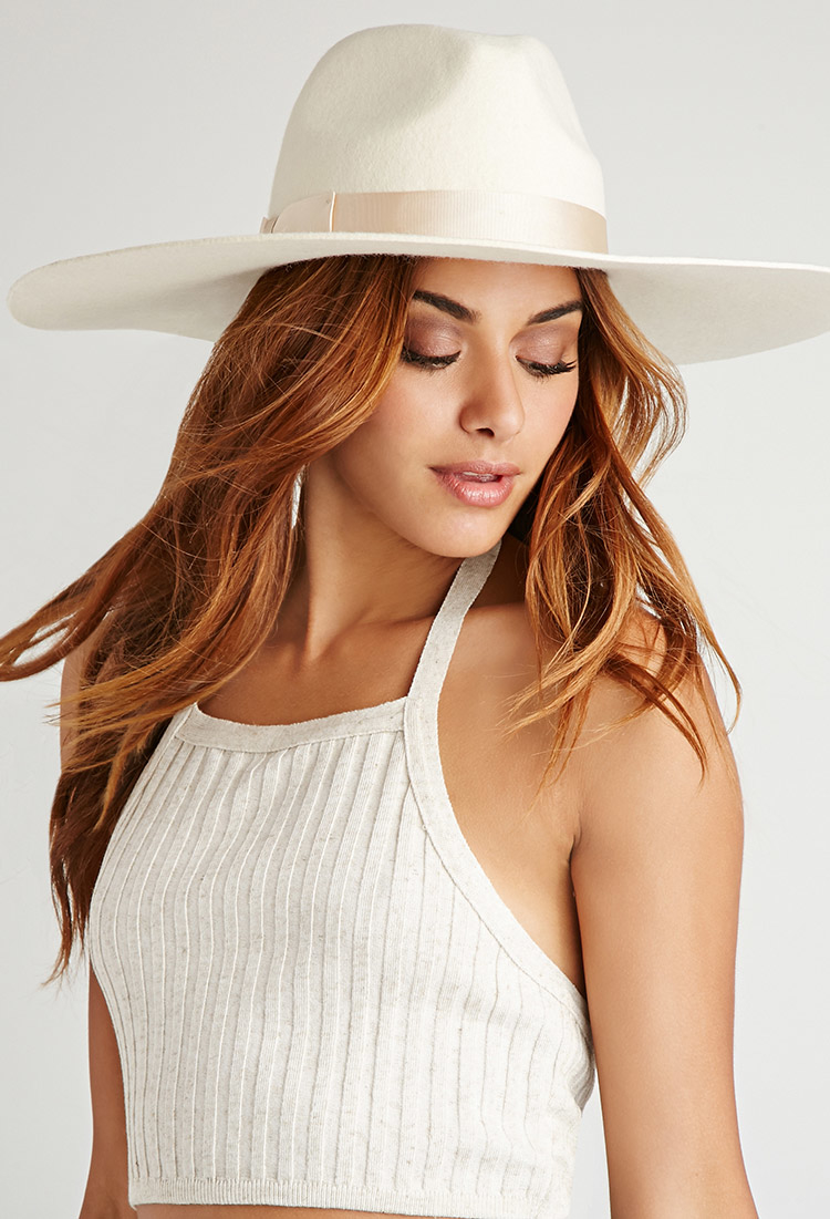 d2301f1e4cb0b Forever 21 Lack Of Color Montana Ivory Bone Fedora in White - Lyst