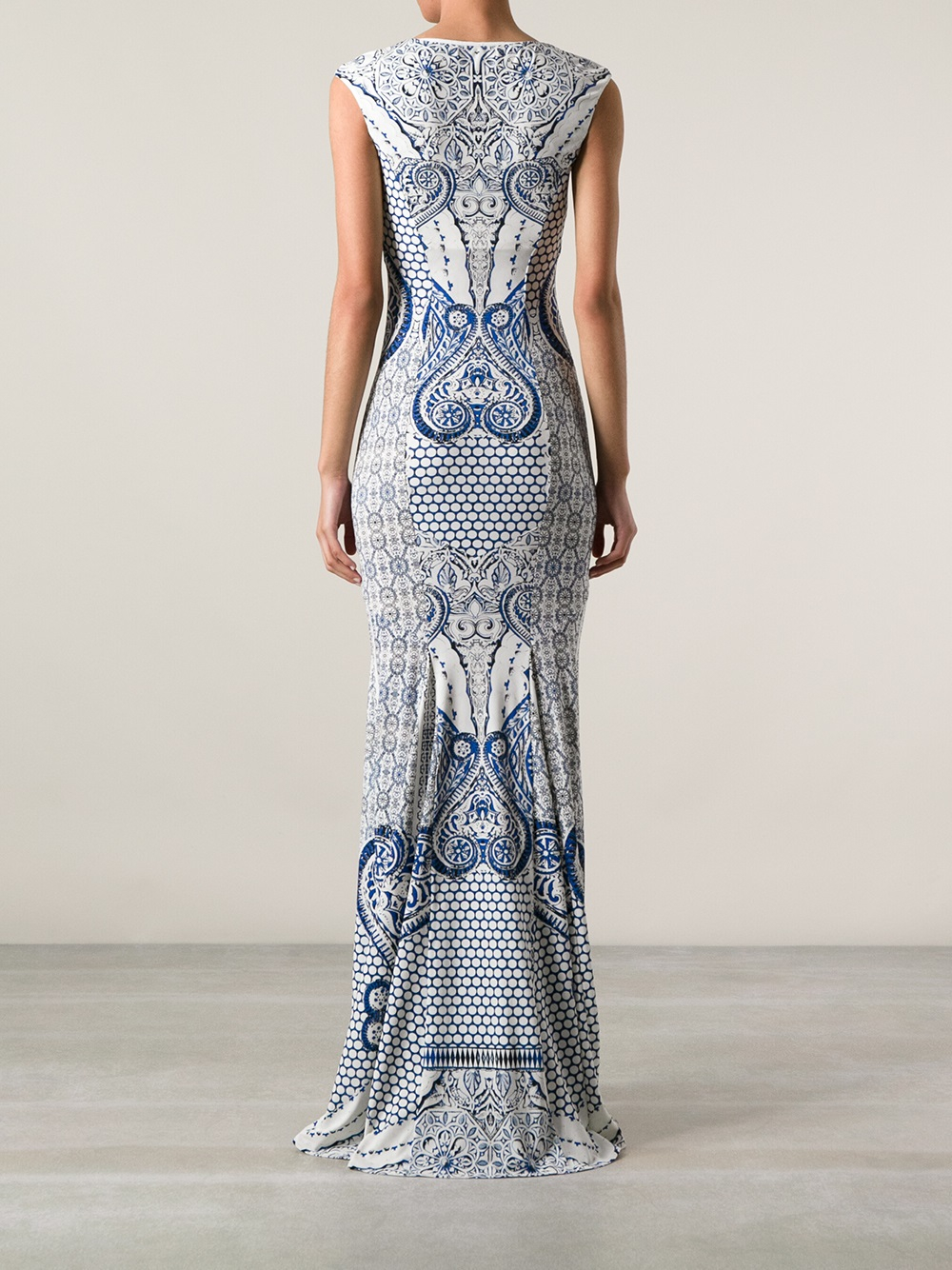 Lyst Roberto Cavalli Sleeveless Paisley Dress In Blue