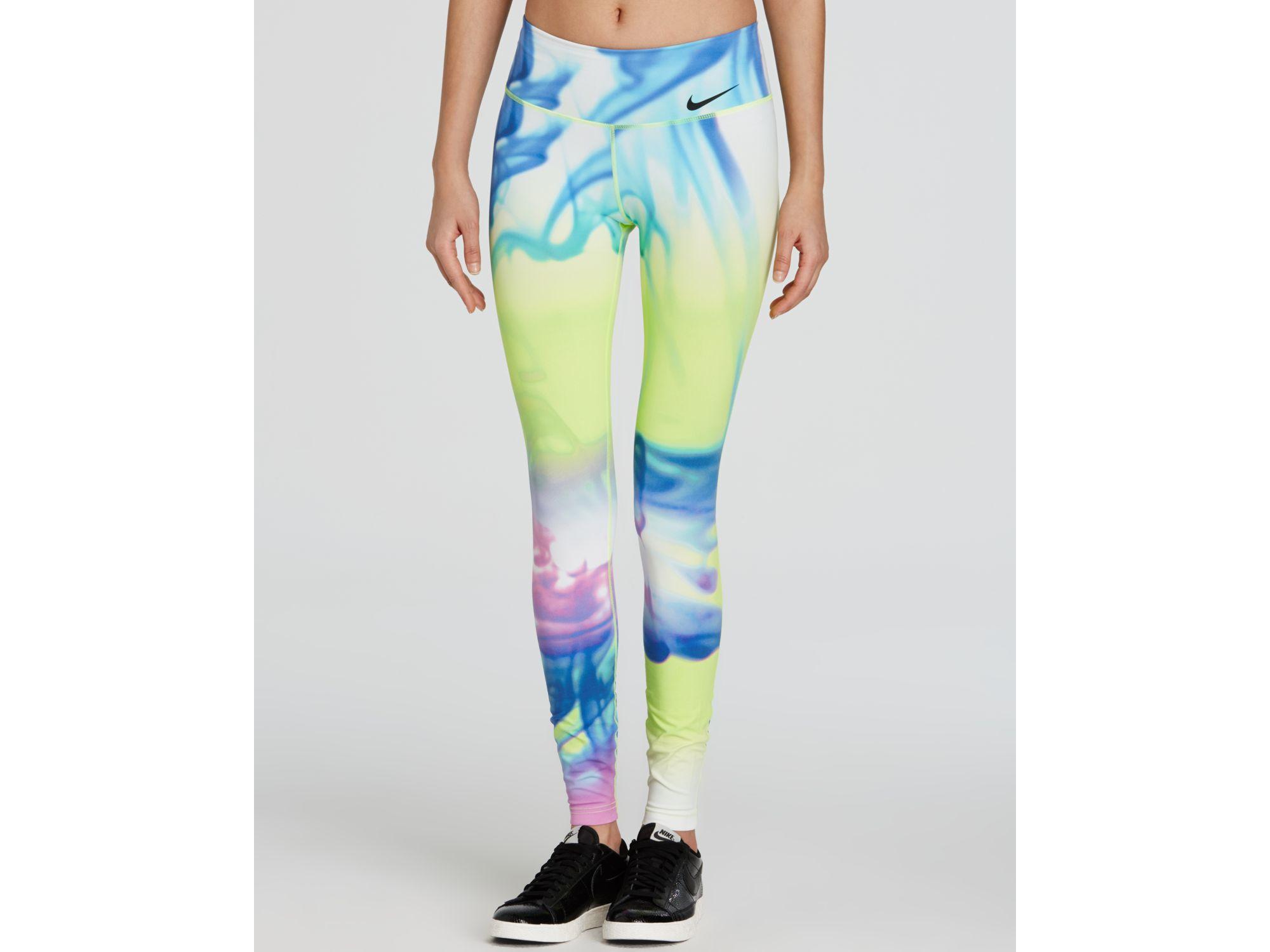 online retailer 3d002 d2144 Nike Leggings - Legendary Lava Print Long - Lyst