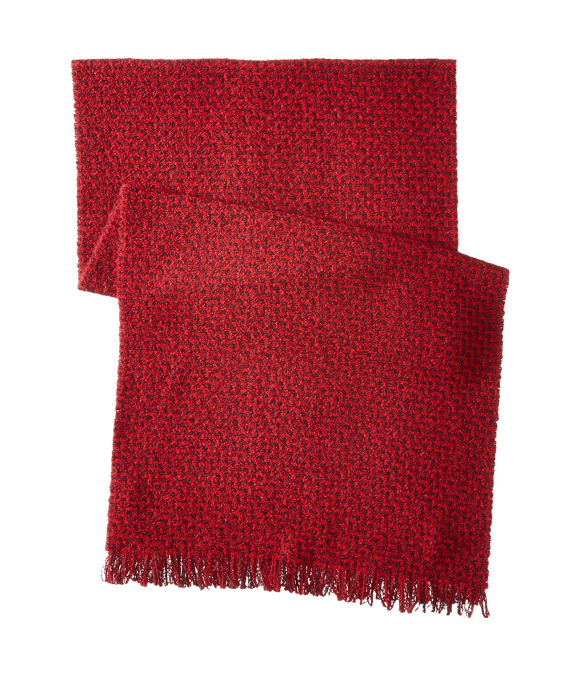 Lyst - Scotch & Soda Chunky Boucle Yarn Scarf In Graphic Pattern in Red