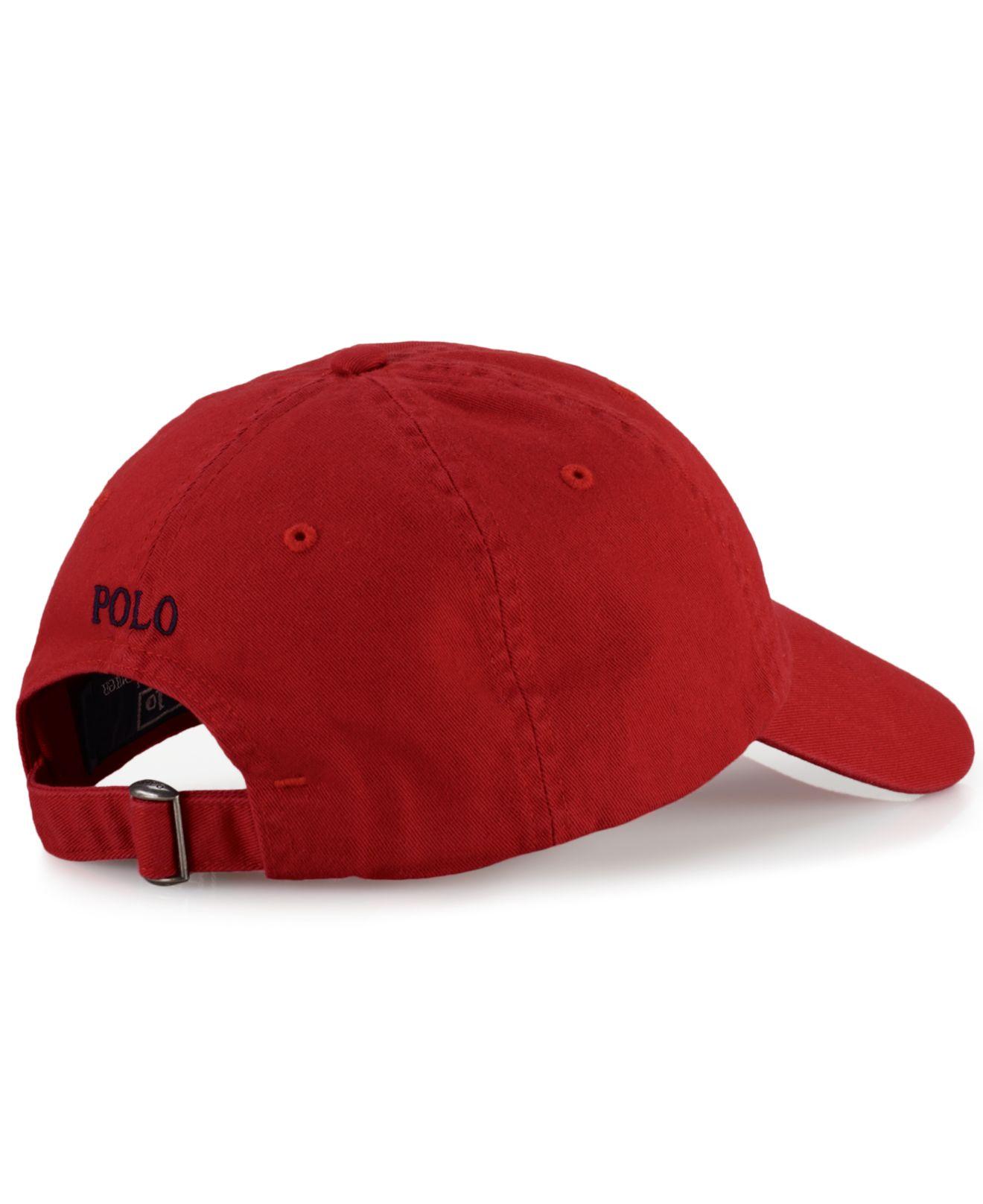 polo ralph lauren core classic sport cap in red for men lyst. Black Bedroom Furniture Sets. Home Design Ideas