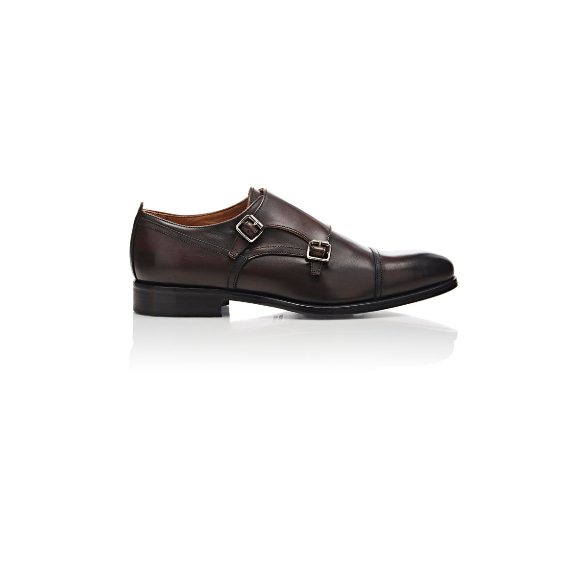 20bf401e6f69 Lyst - Barneys New York Leather Double-monk-strap Shoes in Brown for Men