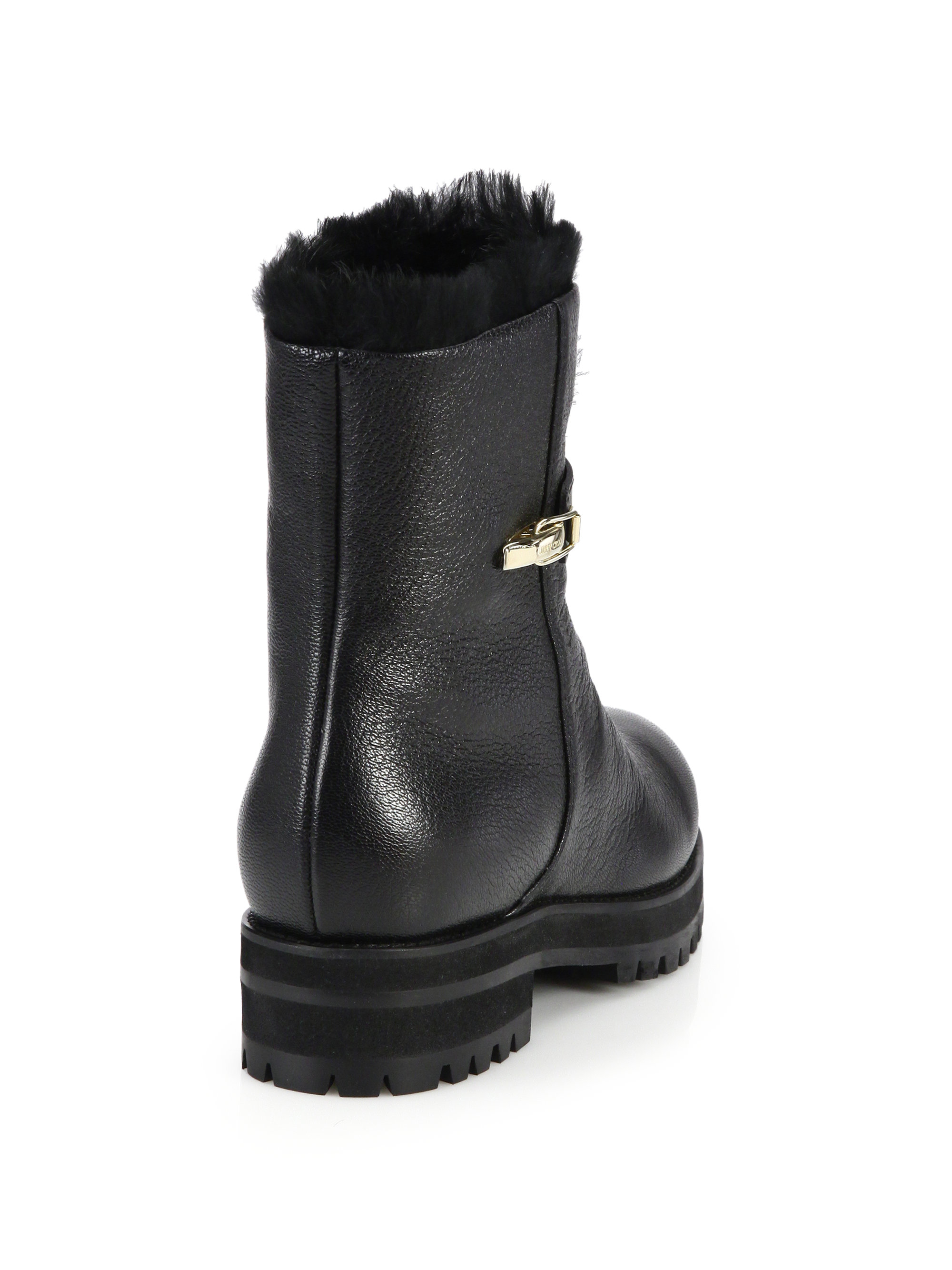 Jimmy Choo Fur-Lined Duffel Ankle Boots buy cheap recommend free shipping enjoy low price cheap online BLbKhdm