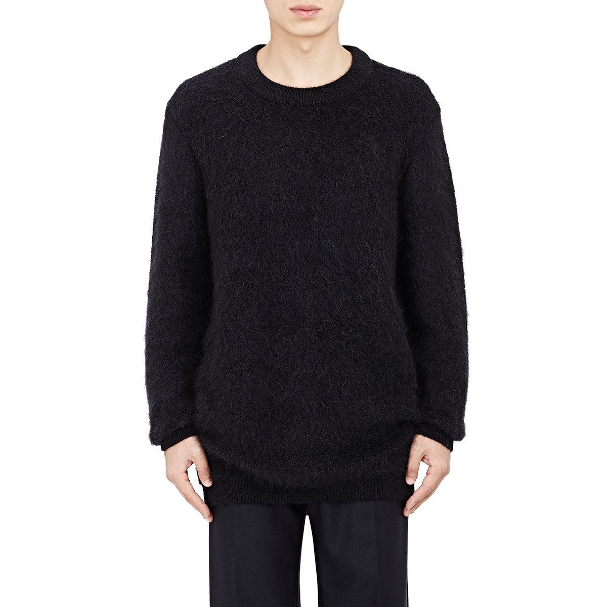 acne studios mohair jerry sweater in black for men lyst. Black Bedroom Furniture Sets. Home Design Ideas